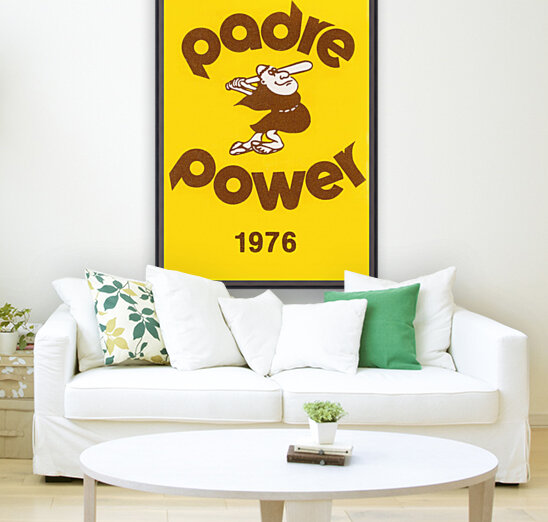 1976 san diego padres padre power poster 1  Art