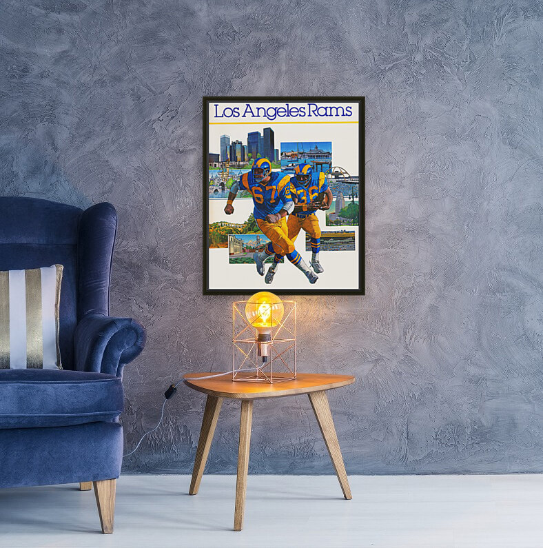 1982 la rams downtown los angeles hollywood poster  Art