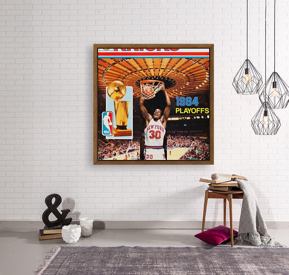 1984 new york knicks nba basketball playoffs bernard king program poster  Art