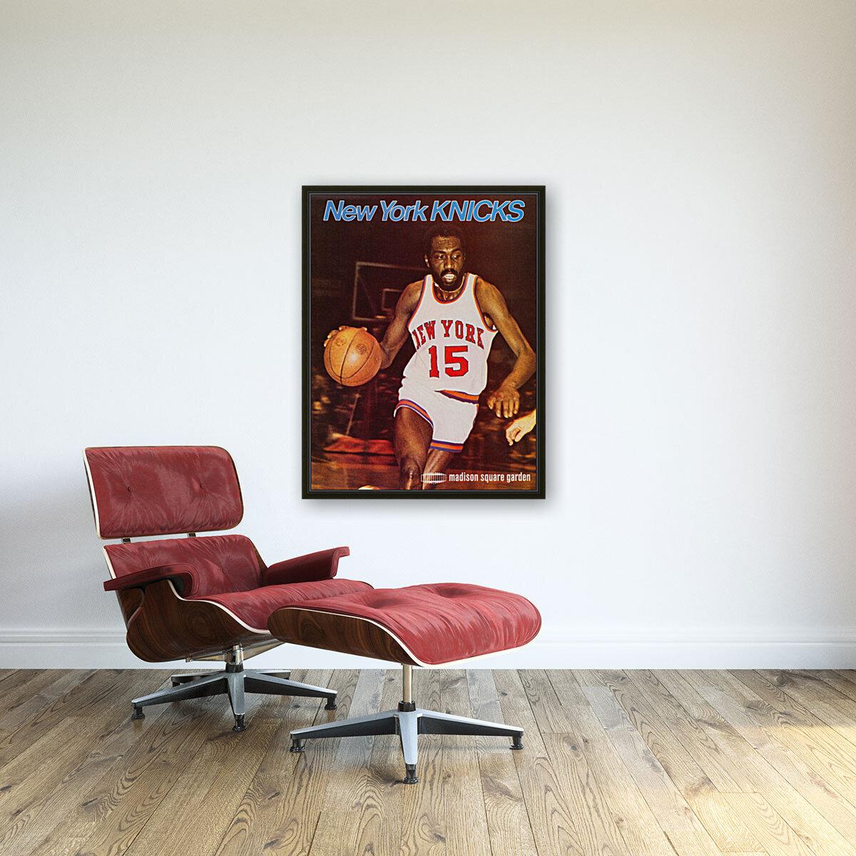 1977 new york knicks basketball poster  Art