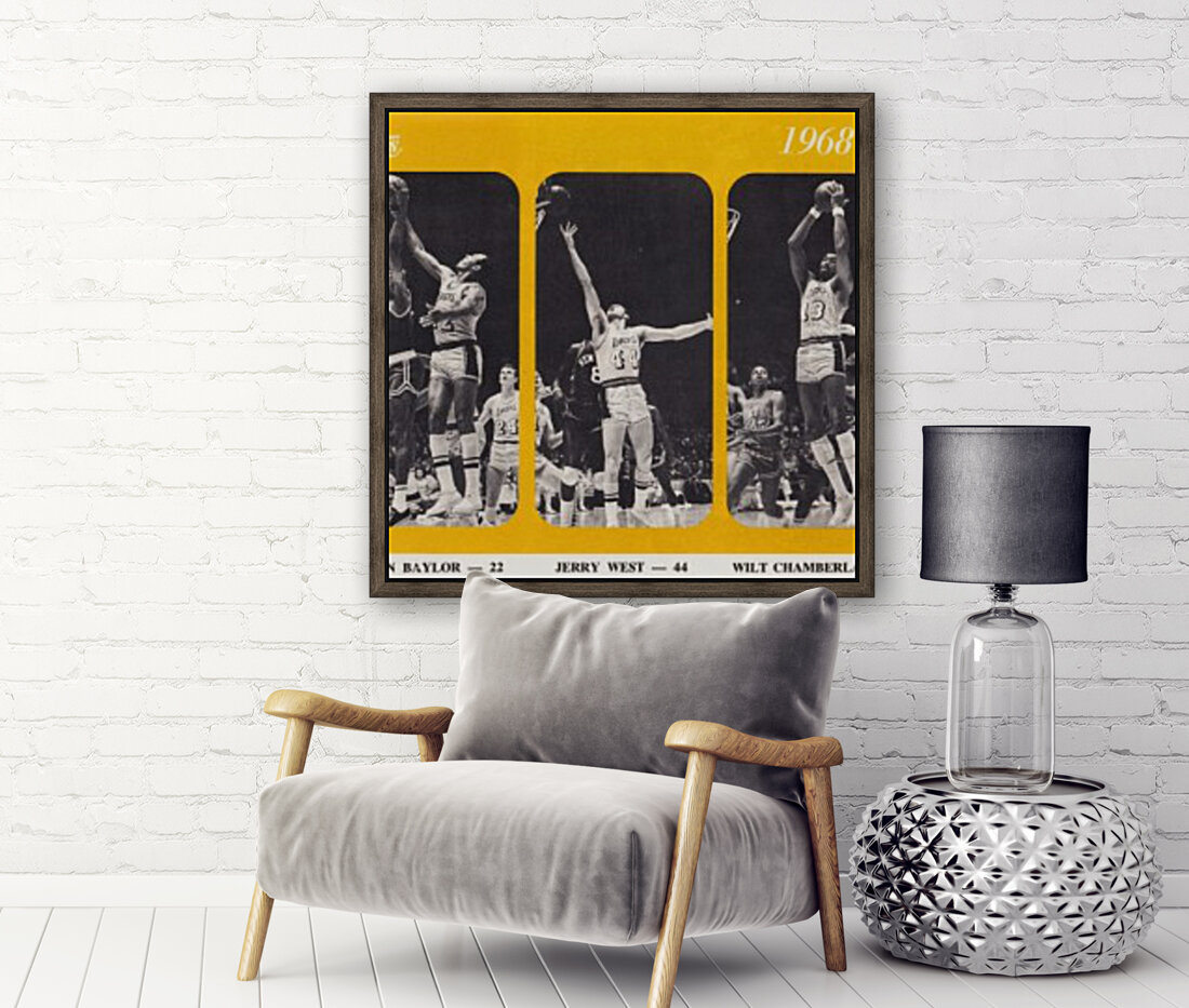 1968 los angeles lakers poster  Art