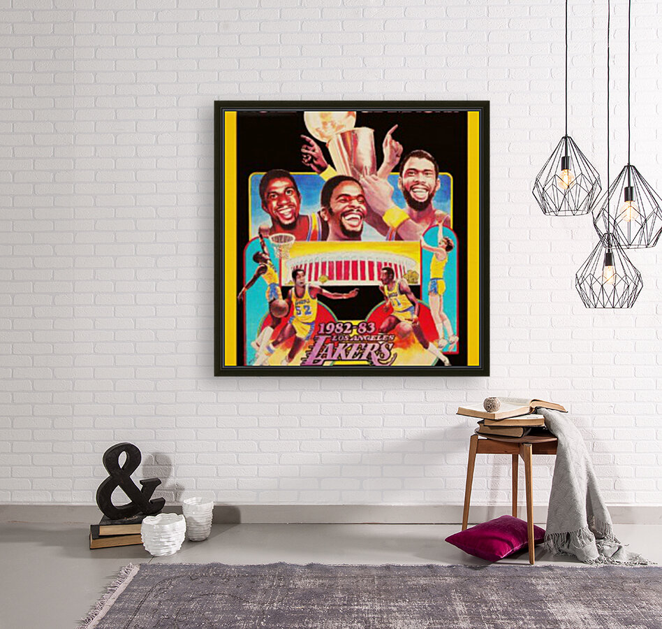 1982 LA Lakers Champion Poster with Floating Frame