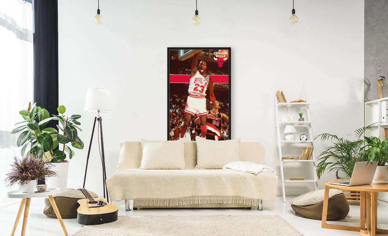 1987 michael jordan chicago stadium poster  Art