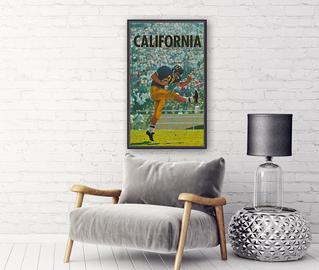vintage california football art  Art