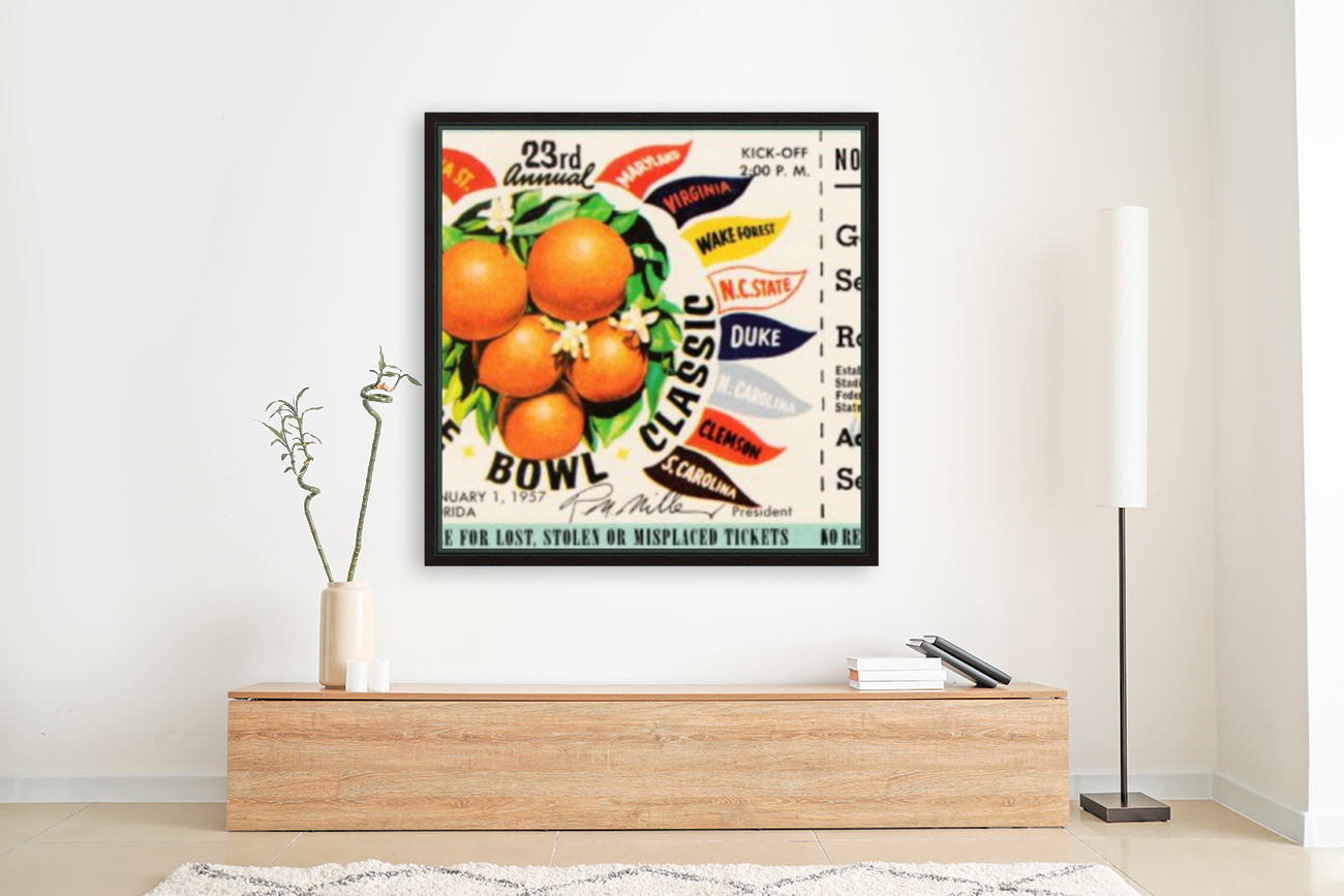 1957_College_Football_Orange Bowl_Clemson vs. Colorado_Orange Bowl Stadium  Art