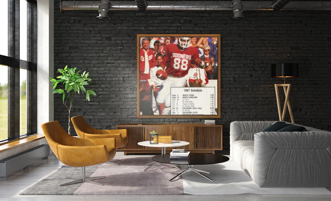 1987 oklahoma sooners football schedule poster  Art