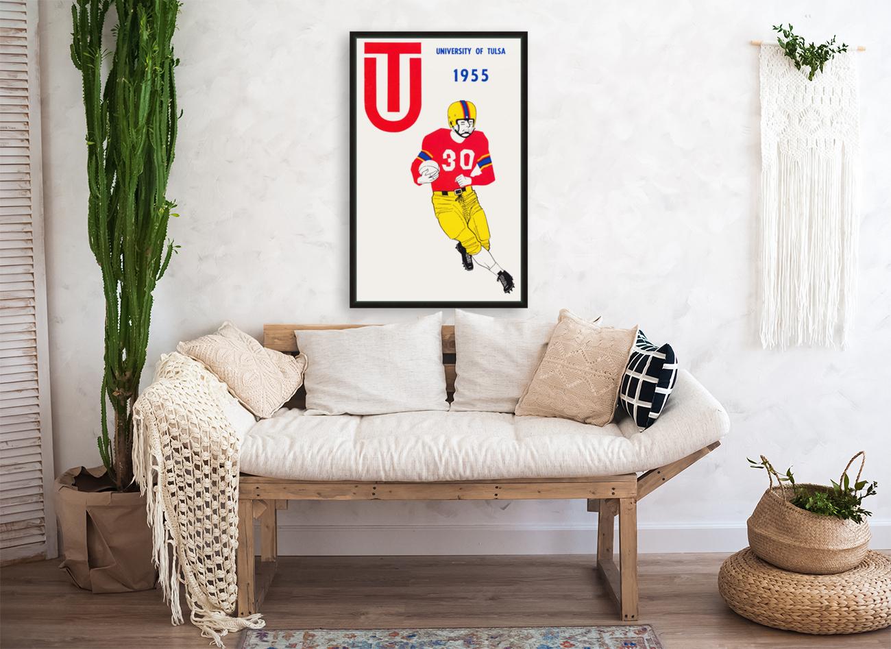 1955 university of tulsa football poster  Art