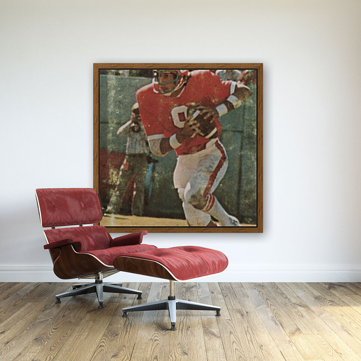 1977 nc state wolfpack retro college football poster johnny evans qb  Art