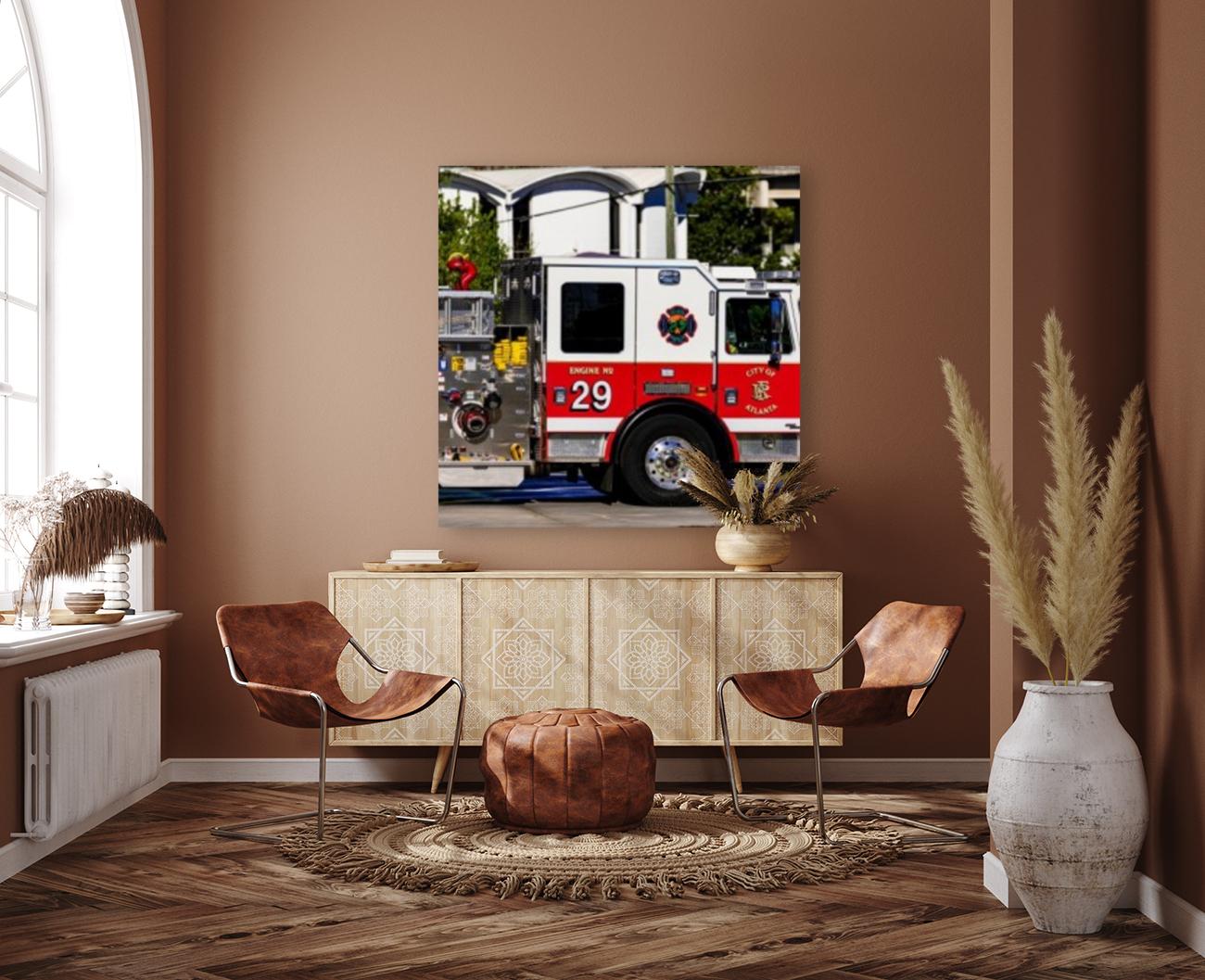 City of Atlanta Fire Engine No 29 6665  Art