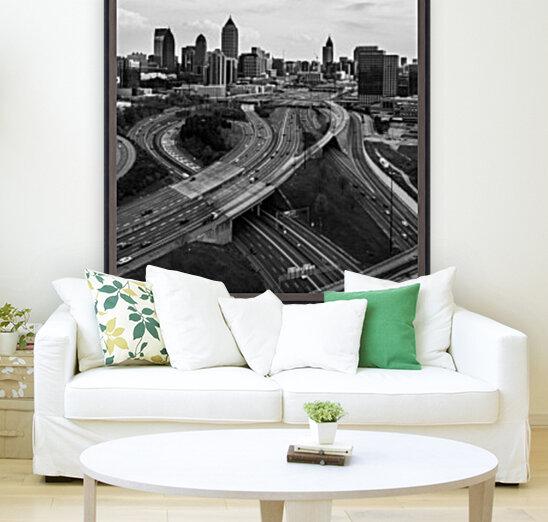 Interstate 75 85 Aerial View   Atlanta GA 0225  Art