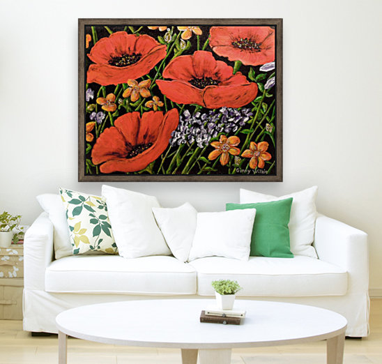 Four Poppies  Art