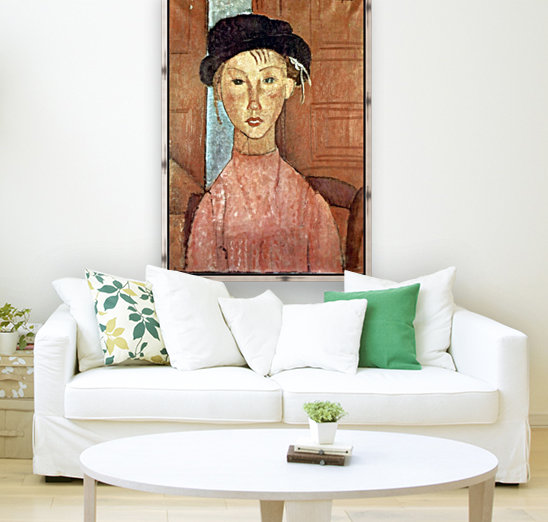 Modigliani - Girl with Hat  Art