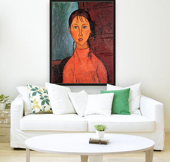 Modigliani - Girl with plaits  Art