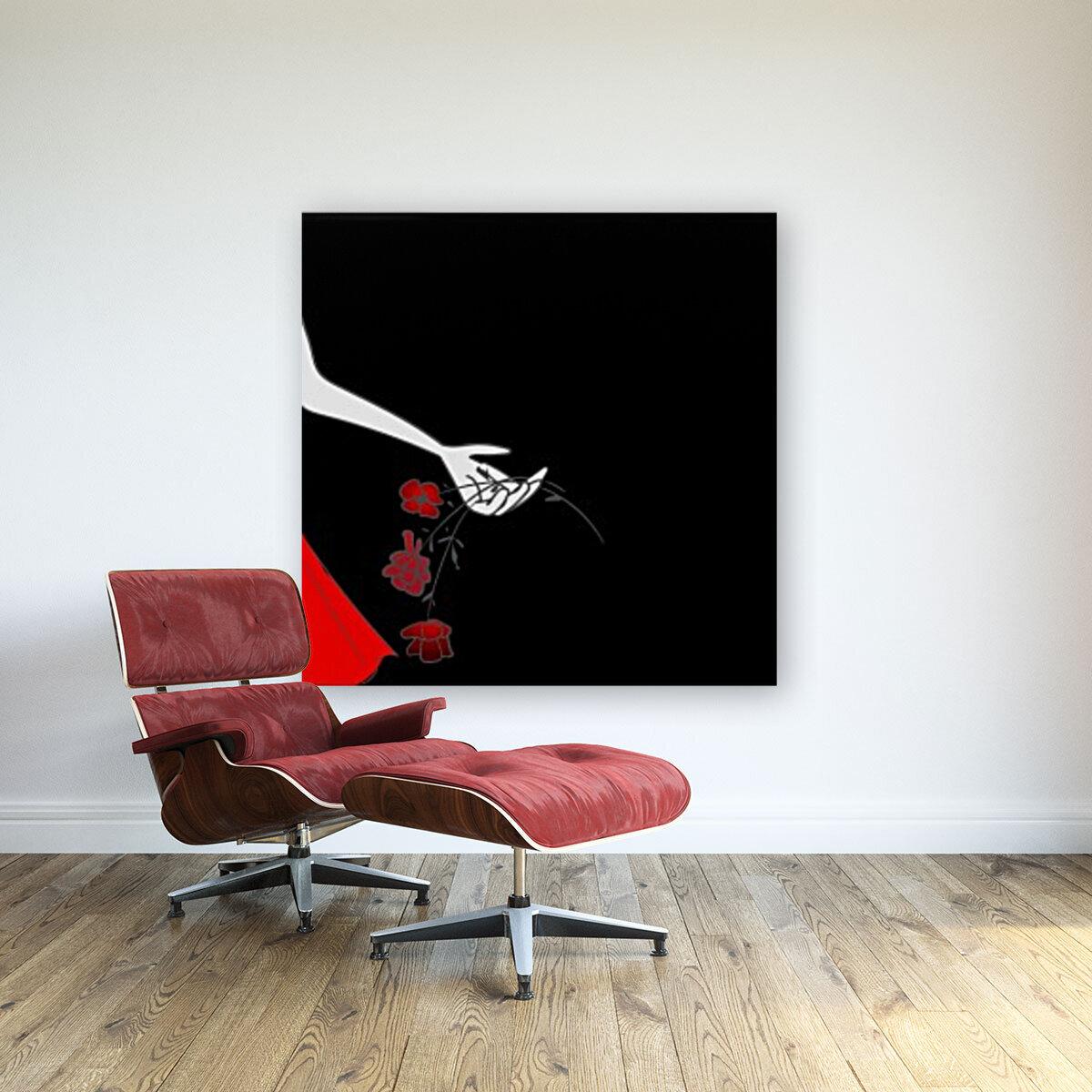 Dropping roses  Art