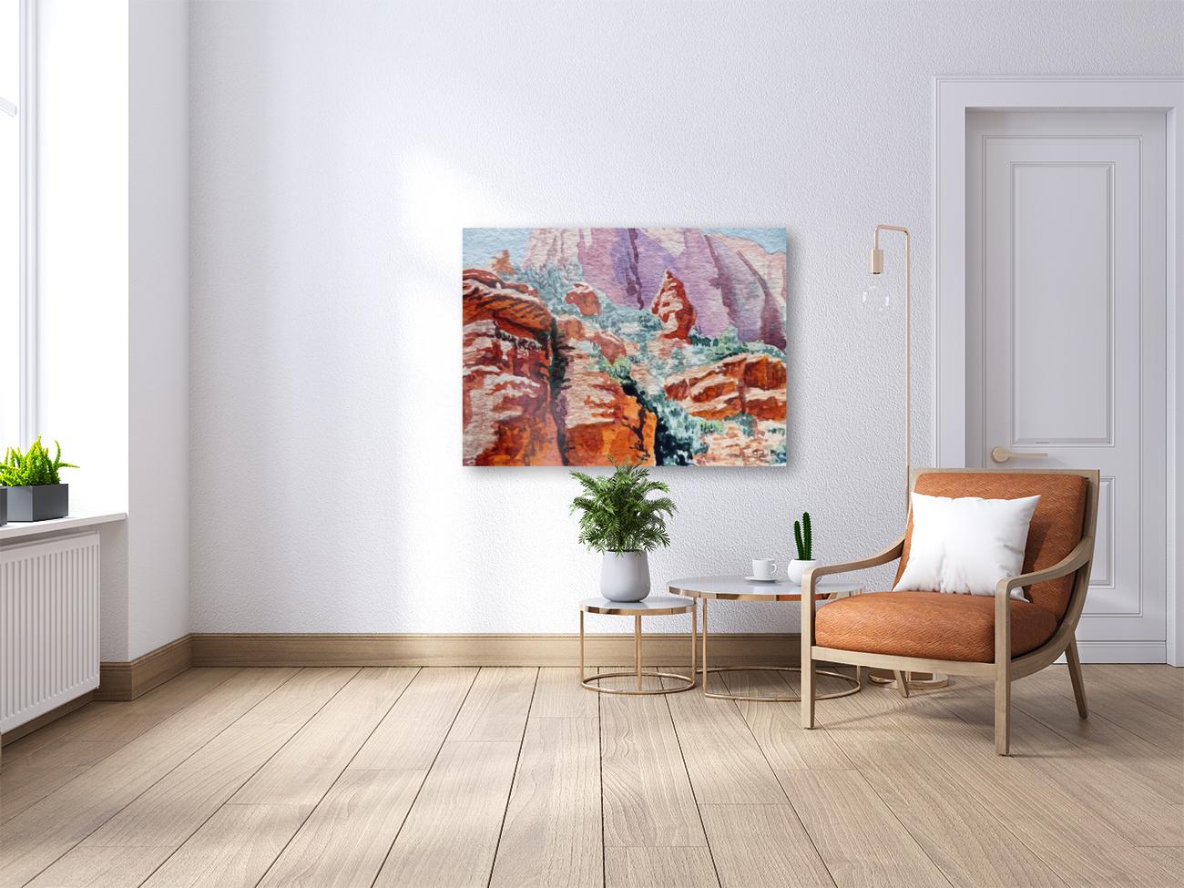 Sedona Arizona Rocky Canyon  Art