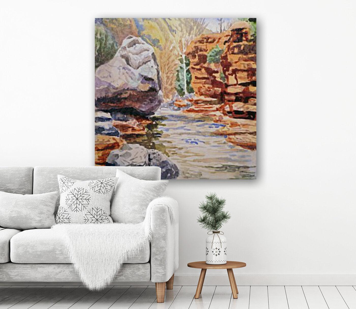 Sedona Arizona Slide Creek  Art