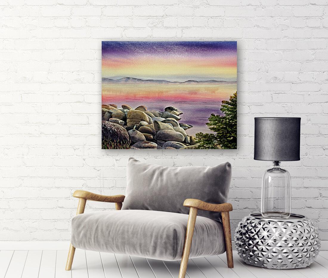 Purple Sunset At The Lake  Art