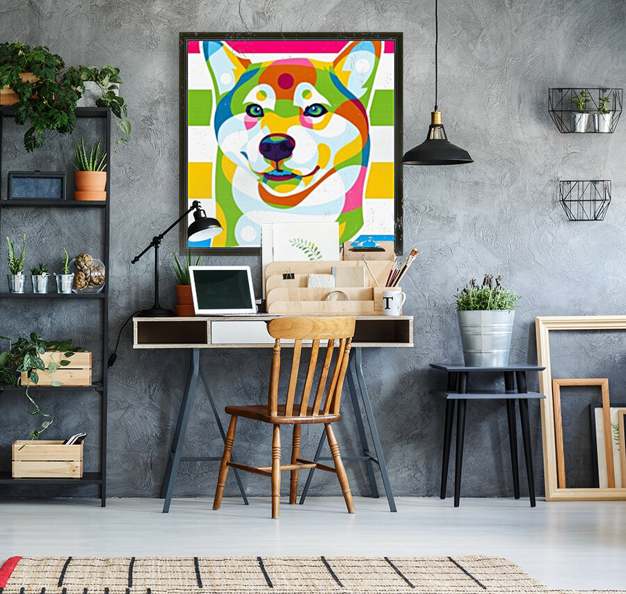 Shiba Inu Colorful Dog  Art