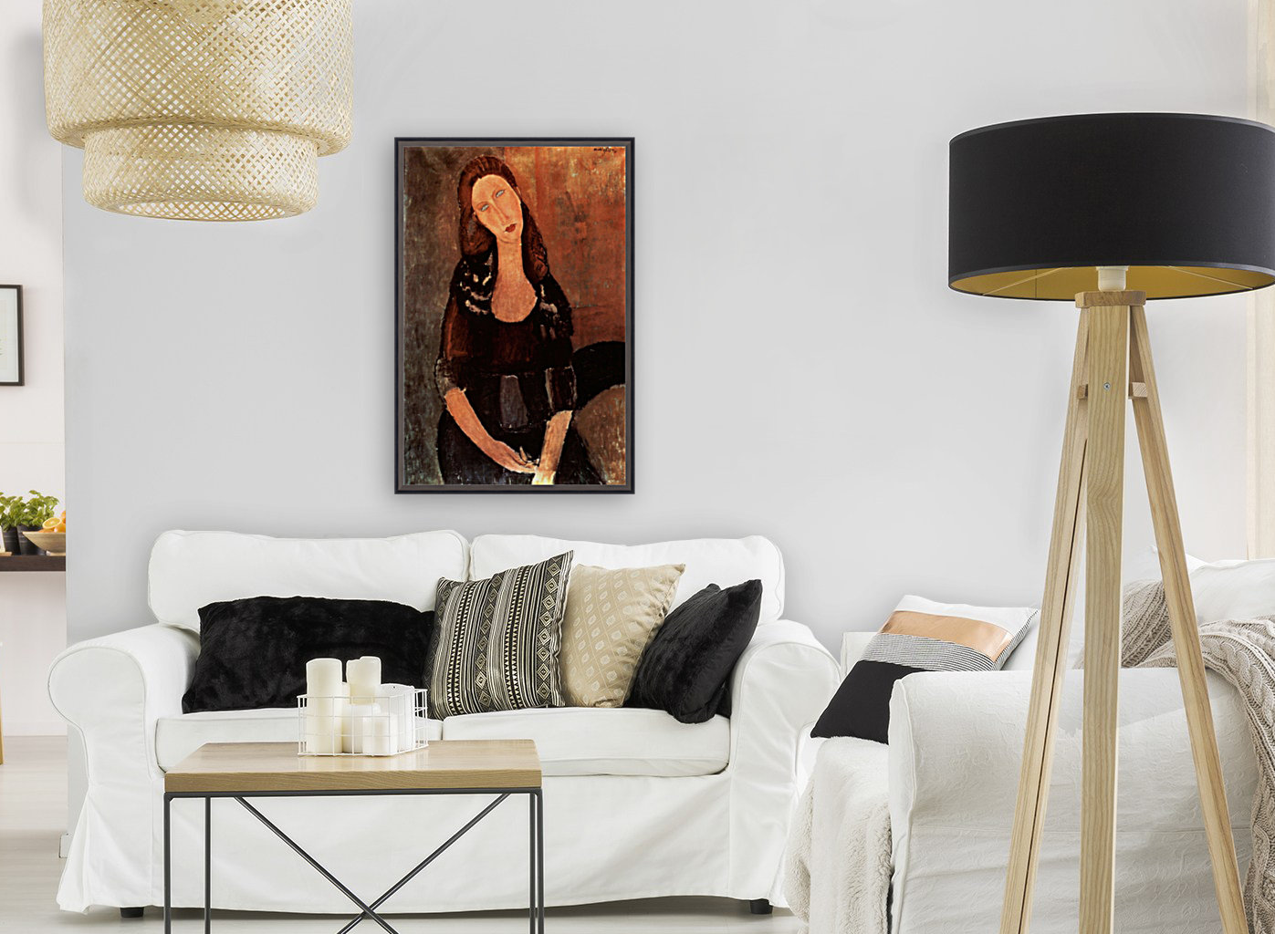 Modigliani - Portrait of Jeanne Hebuterne -3-  Art