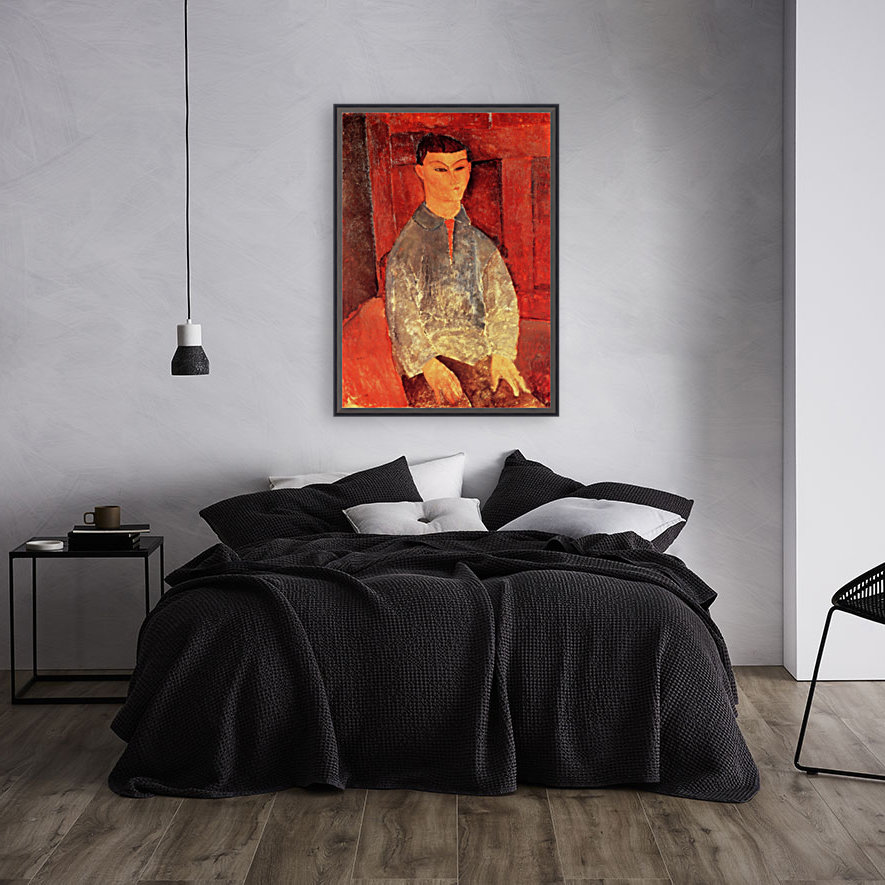 Modigliani - Portrait of Moise Kisling -3- with Floating Frame
