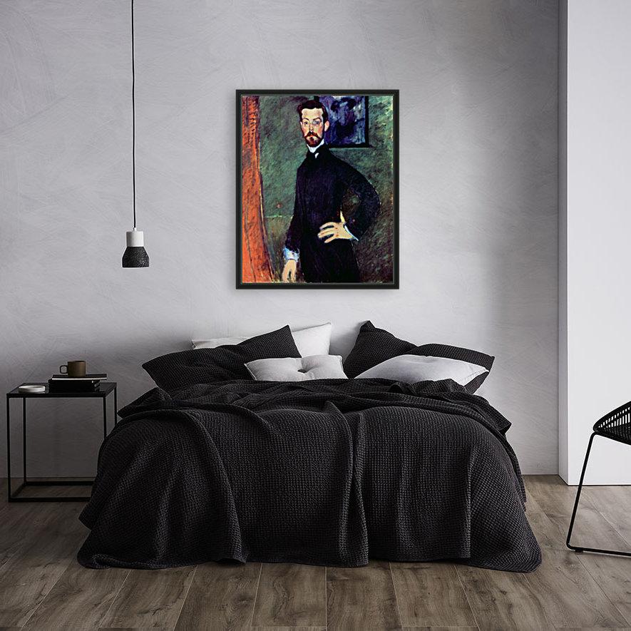 Modigliani - Portrait of Paul Alexanders before a green background  Art
