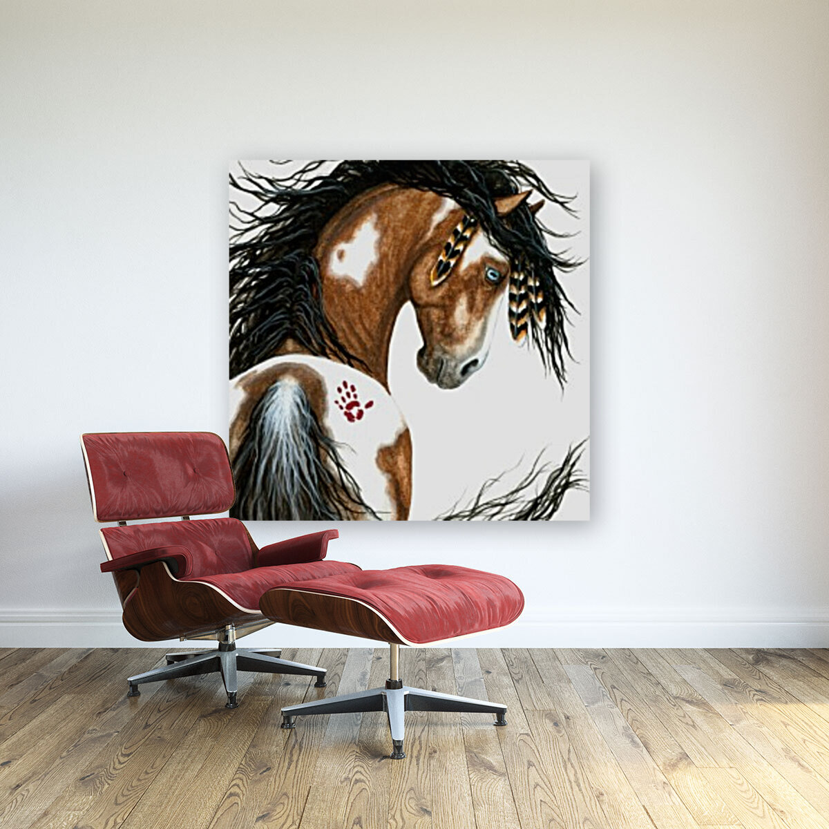 Majestic Pinto Horse  Art