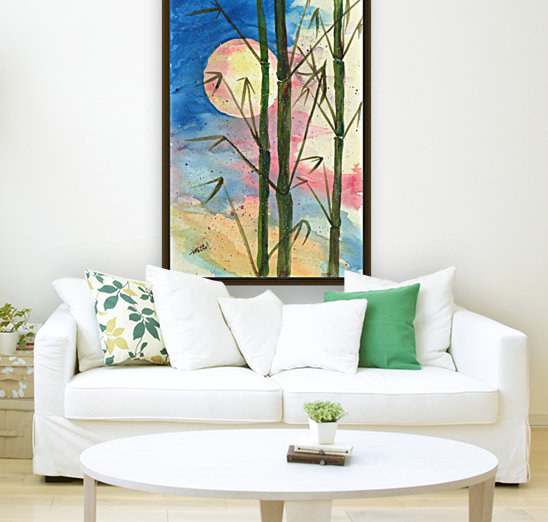 Moonlight Bamboo with Floating Frame