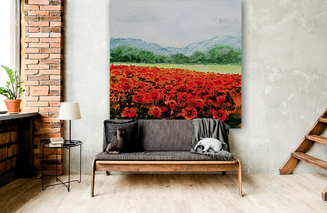 Red Poppies Field  Art