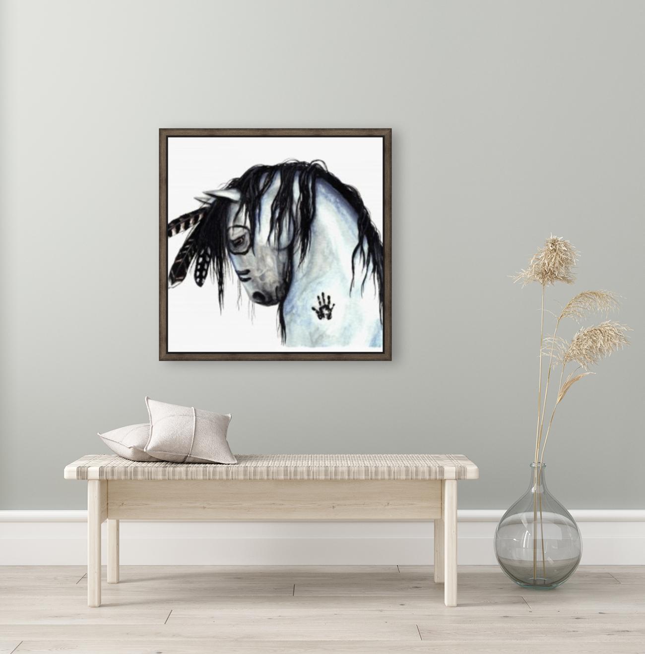 Grey Horse  Art