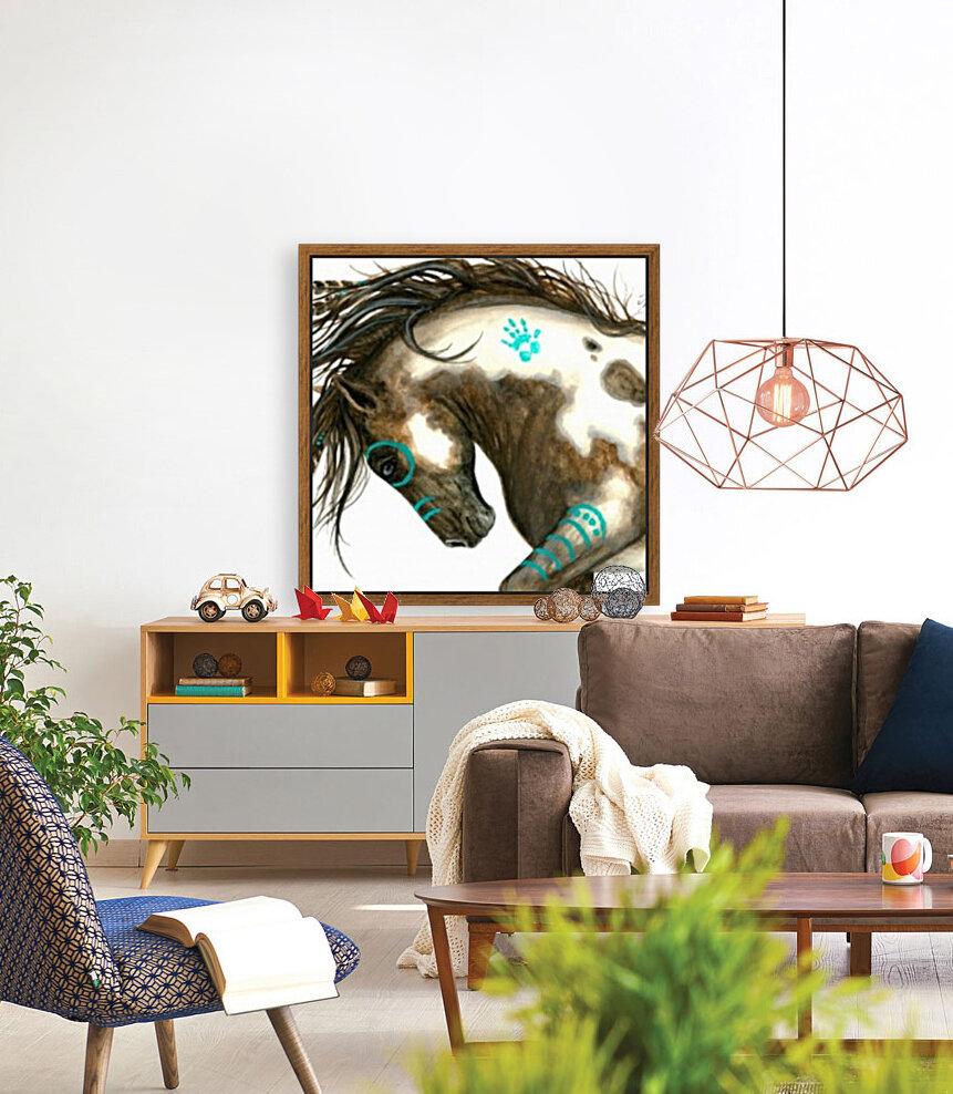 Pinto Horse Turquoise   Art
