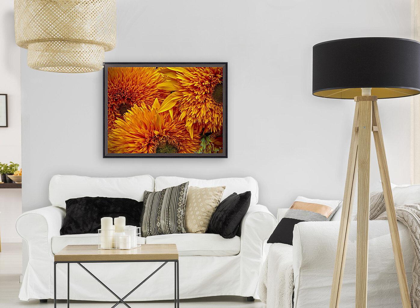 Fluffy Yellow Sunflowers  Art
