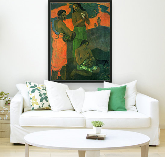 Motherhood by Gauguin with Floating Frame