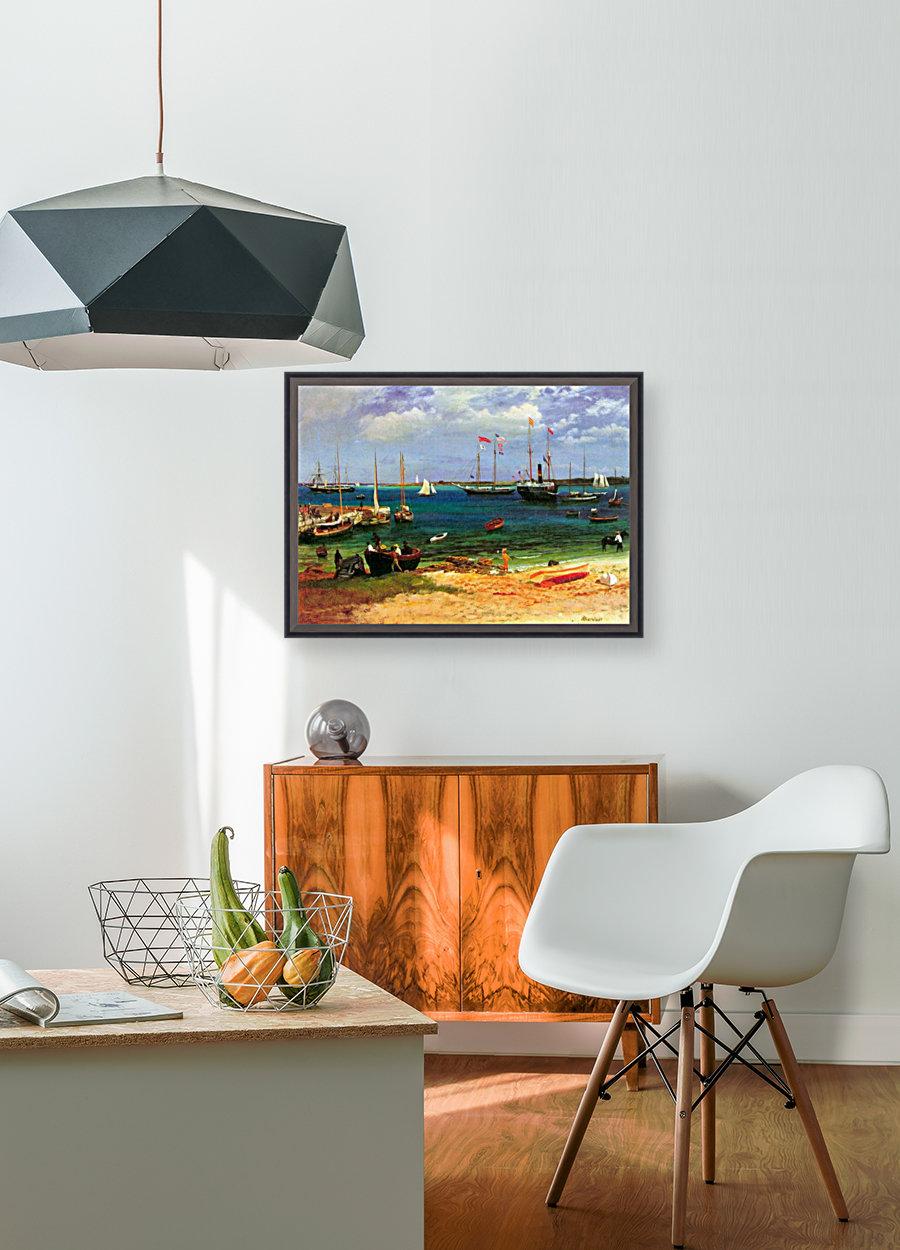Nassau port by Bierstadt  Art