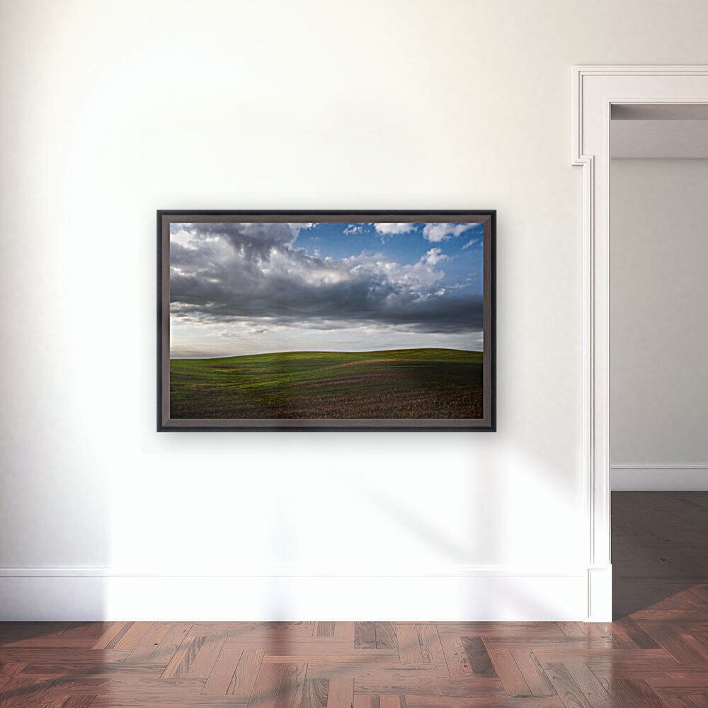 Fields and clouds  Art