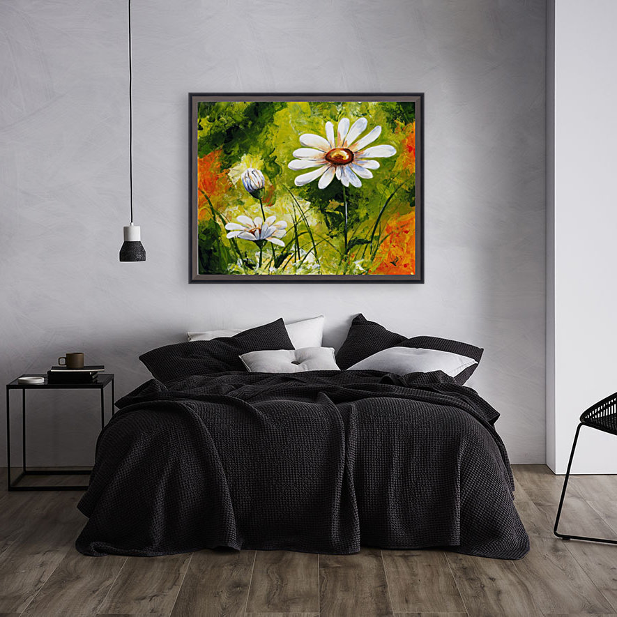 Edit Voros White Daisies 005  with Floating Frame