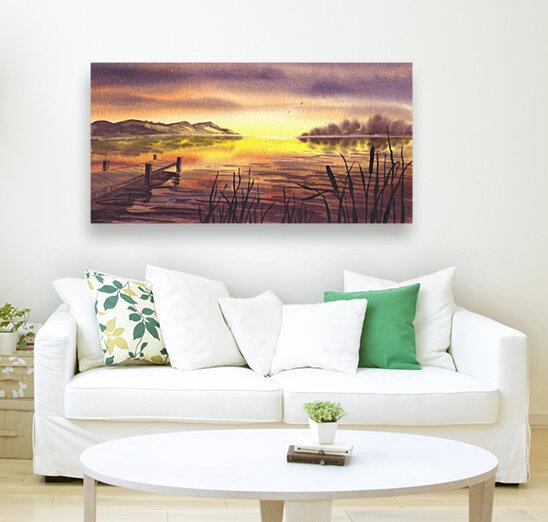 Peaceful Sunset At The Lake  Art