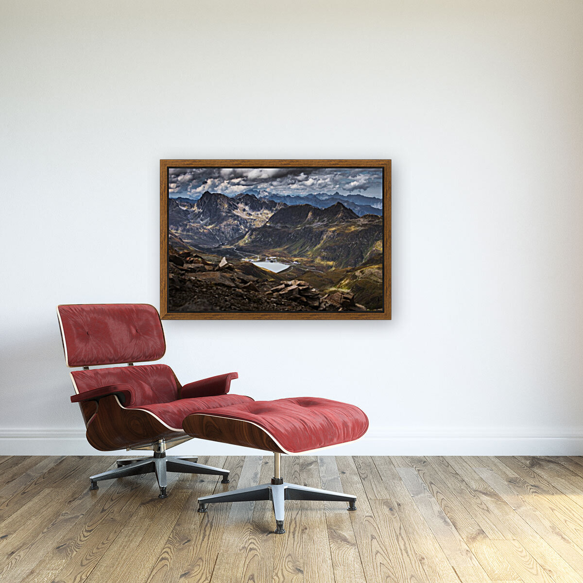Surrounded by mountains  Art