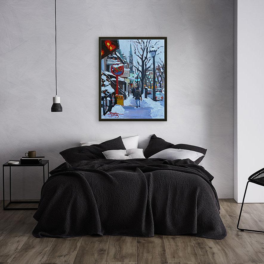 Montreal Winter St-Denis  Art