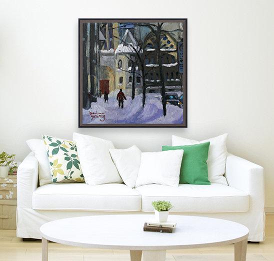 Montreal Downtown Scene, Drummond Winter  Art