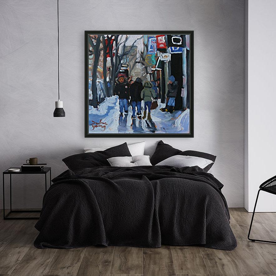 Montrel winter Scene, Ste-Catherine  Art