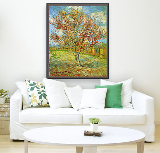 Pink Peach Tree in Blossom Reminiscence of Mauve by Van Gogh  Art