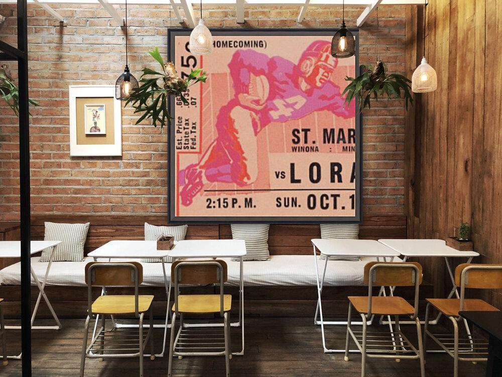 1941 St. Marys vs. Loras  Art