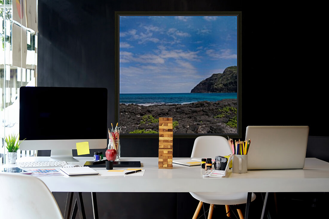Hawaii Cliff and Coastline Square Panorama  Art