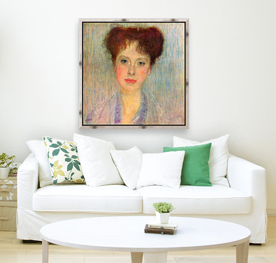Portrait of Gertha Fersovanyi (detail) by Klimt  Art
