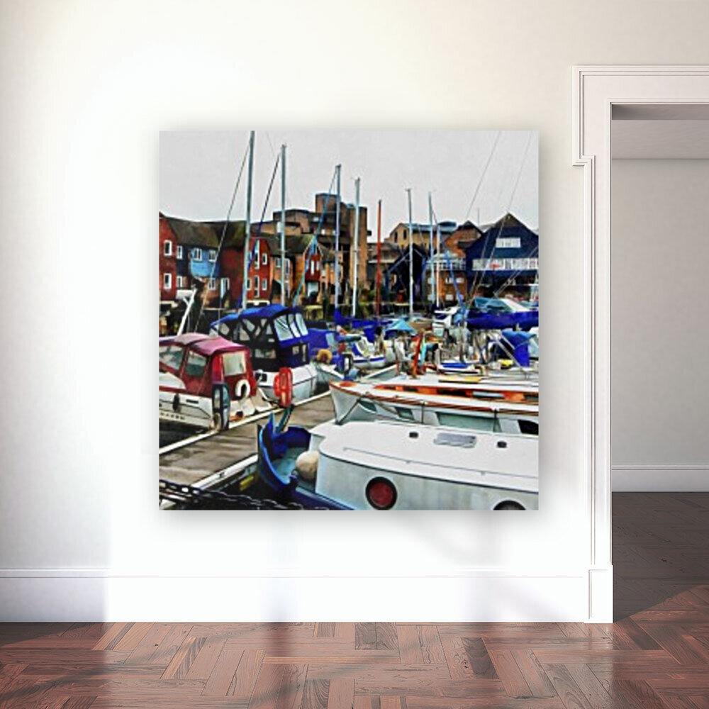 St Katharine Docks Boats 5  Art