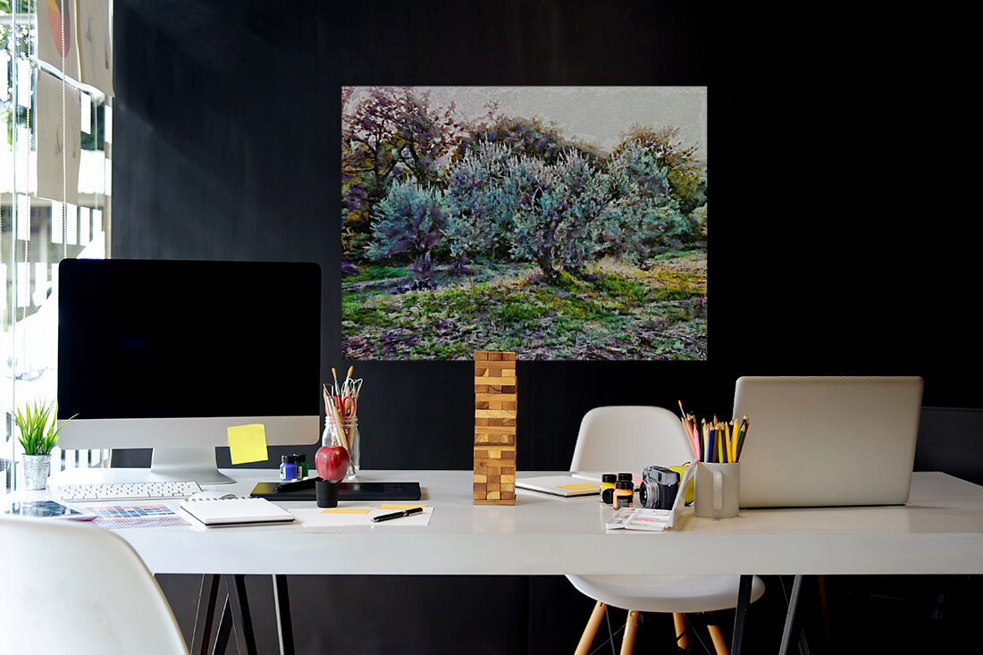 Colorful Olive Grove  Art