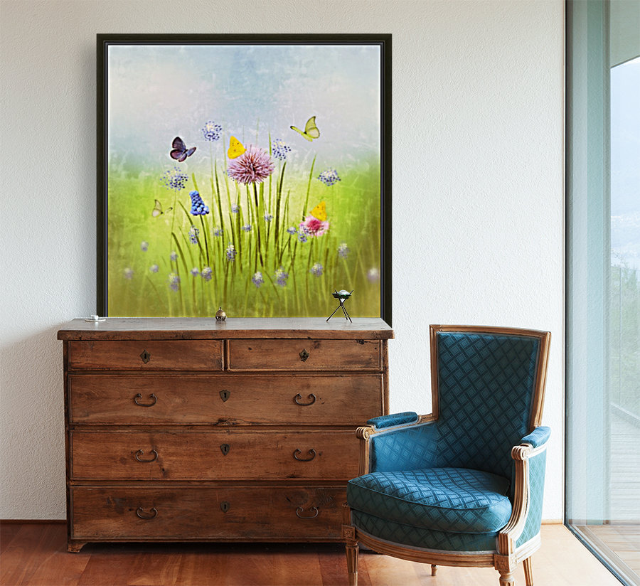 Spring meadow with Floating Frame