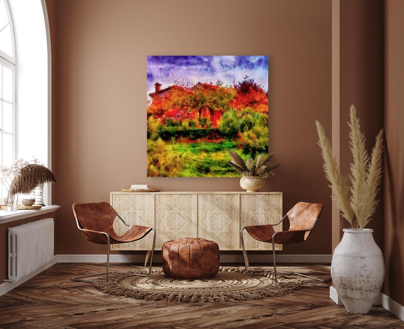 Sunset Autumn Color In Umbria  Art