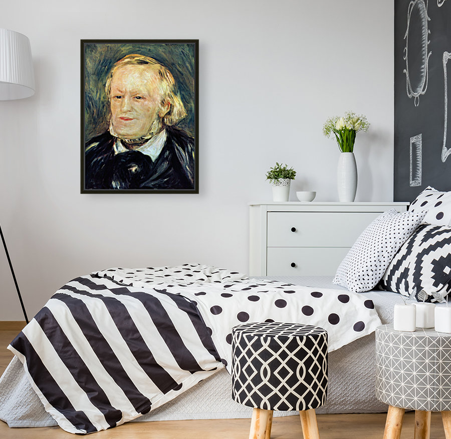 Portrait of Richard Wagner by Renoir with Floating Frame