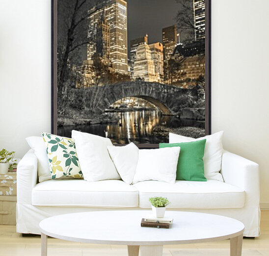 Evening view of Central Park in New York City  Art